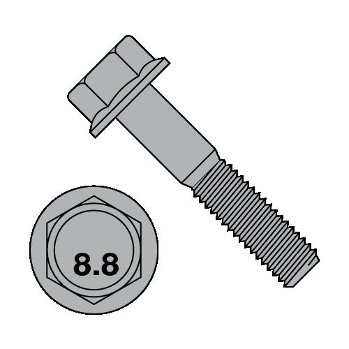M8-1.25x40 Grade 8.8 Metric Hex Flange Screws Flange Bolts 100