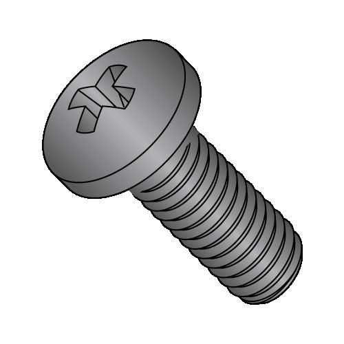 black oxide machine screws