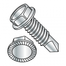 Unslotted - Serrated Hex Washer - Self Drilling Screws - Machine Screw Thread - Zinc - #2 Pt.