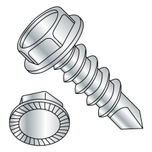 Serrated Hex Washer - Unslotted - Self Drilling Screws - Zinc #2 Point