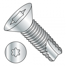 Flat - Six-Lobe - Type 23 - Thread Cutting Screws - Zinc