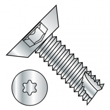 Flat - Undercut - Six-Lobe - Type 25 - Thread Cutting Screws - Zinc
