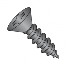 Flat - Phillips - Type AB - Self Tapping Screws - Black Zinc