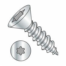 Flat - Six-Lobe - Type AB - Self Tapping Screws - Zinc