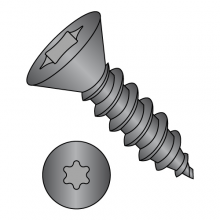 Flat - Six-Lobe - Type AB - Self Tapping Screws - Black Oxide