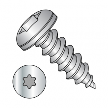 Pan - Six-Lobe - Type AB - Self Tapping Screws - 18-8 Stainless
