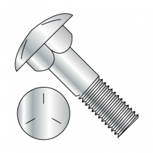 Carriage Bolts (Shaker Screen) - Grade 5 - Partially Threaded - Zinc