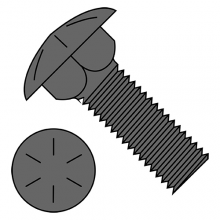 Carriage Bolts (Shaker Screen) - Grade 8 - Plain Finish
