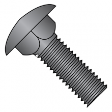 Carriage Bolts - Low Carbon Steel - Black Zinc