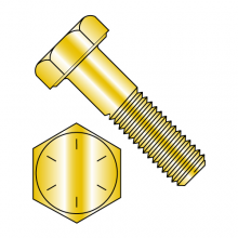 Hex Cap Bolts - Grade 8 - Fine - Zinc Yellow