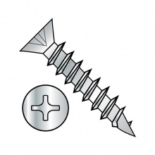 Flat - Phillips - Deep Thread Wood Screws - Nickel Plated