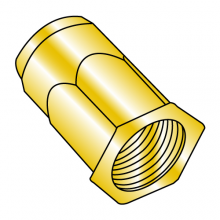 Blind Threaded Inserts - Small Head - Hex Body - Zinc Yellow (Metric)
