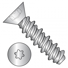 Six-Lobe - Flat - High Low - Self Tapping Screws - Zinc