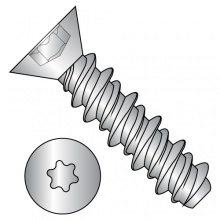 Six-Lobe - Flat - High-Low - Self tapping Screws - 18-8 Stainless