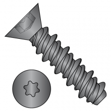 Six-Lobe - Flat - High-Low - Self Tapping Screws - Black Zinc