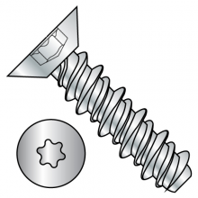 Flat - Six-Lobe - Undercut - High-Low - Self Tapping Screws - Zinc