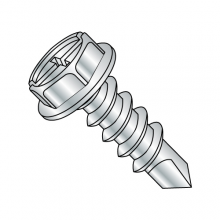 Hex Washer Combination - Self Drilling Screws - Zinc