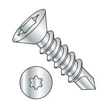 Flat - Six-Lobe - Self Drilling Screws - Zinc