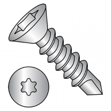 Flat - Six Lobe - Self Drilling Screws - 410 Stainless