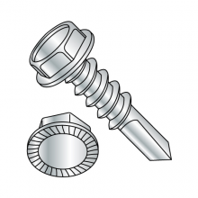#4 Point - Serrated Hex Washer - Unslotted - Self Drilling Screw - Zinc