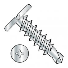 Combo (Square Phillips) - Pancake - Self Drilling Screws - Zinc