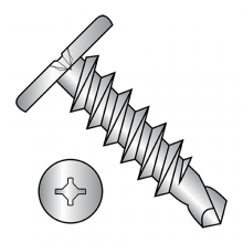 Combo (Square Phillips) - Pancake - Self Drilling Screws - 18-8 Stainless