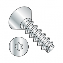 Flat Six-Lobe Undercut - Generic Alternatives to Plastite® - 48-2 Thread Rolling Screws*- Zinc
