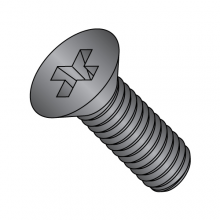 Flat 82° Phillips Machine Screw  - 18-8 Stainless - Black Oxide