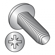 DIN 7500C - Metric - Pan - Type Z Recess (1A) - Thread Rolling Screws - 18-8 Stainless Steel