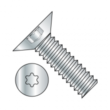 Flat 100° - Six Lobe - Machine Screw - Zinc