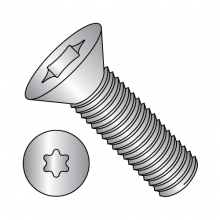 Flat 82° - Six Lobe - Machine Screws - Fully Threaded - 18-8 Stainless