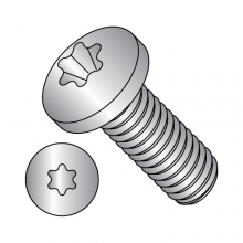 Pan - Six-Lobe - Machine Screw - 18-8 Stainless