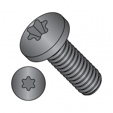 Pan - Six-Lobe - Machine Screw - Zinc Black
