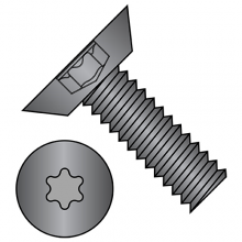 82° Flat - Undercut - Six Lobe - Machine Screws - Black Oxide