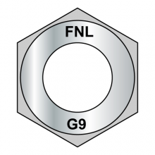 Thick Hex Nuts - Grade 9 - Fine Thread - EcoGuard Gray / Silver