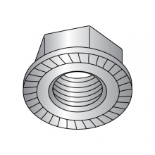 Serrated Hex - Flange Lock Nuts - Stainless Steel