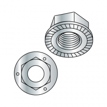 Grade 5 - Hex Serrated Flange Lock Nuts - Zinc Plated