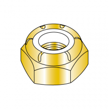 Nylon Insert Stop Nuts - Thin - Fine Thread - Zinc Yellow