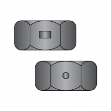 Two Way Reversible Lock Nuts - Finished Pattern - Black Oxide