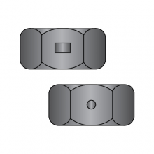 Two Way Reversible Lock Nuts - Finished Pattern - Black Zinc