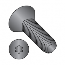 Flat - Six Lobe - General Alternatives to Taptite® Thread Rolling Screws* - Black Oxide