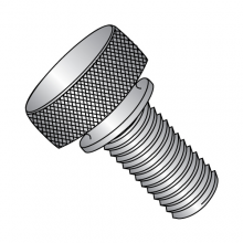 Knurled Thumb Screws - with Washer Face - 303 Stainless