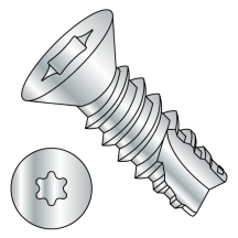 Flat - Six-Lobe - Type 25 - Thread Cutting Screws - Zinc