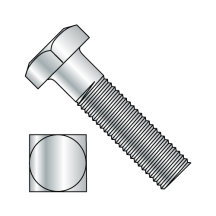 Square Head Battery Bolt Fully Threaded Zinc