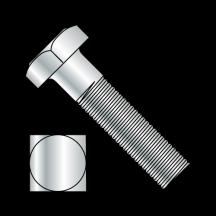 Square Head Battery Bolt Fully Threaded Zinc