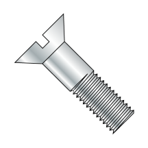 Slotted Flat Cap Screws - Zinc