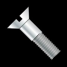 Slotted Flat Cap Screw Zinc