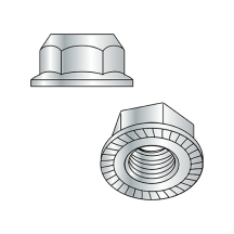 DIN 6923 - Serrated Hex Flange Nuts - Class 10 - Zinc