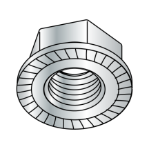 Din 6923 Metric Class 8 Hex Flange Nut Serrated Zinc