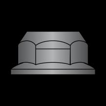 Din 6927 Metric Top Lock Flange Nut Class 10 Black Phosphate and Oil